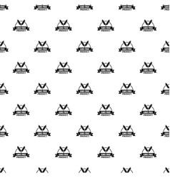 Gmo free bakery pattern seamless vector
