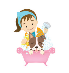 Grooming dog vector
