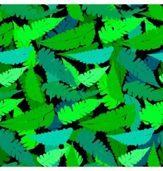 Grunge pattern with fern leafs vector image