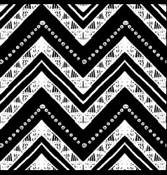 hand drawn zigzag and stripe pattern vector image