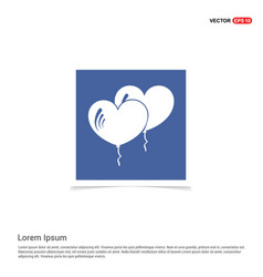 heart balloons icons - blue photo frame vector image