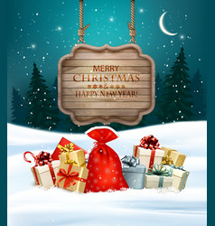 Holiday Christmas background with gift boxes and vector
