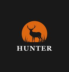 hunter deer logo design inspiration vector image