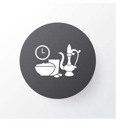 Iftar icon symbol premium quality isolated meal vector