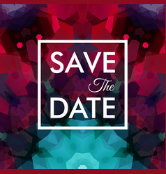 image of square shaped save the date logo vector image