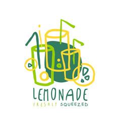 lemonade logo template original design colorful vector image