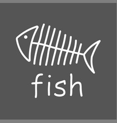 line fish icon line design vector image