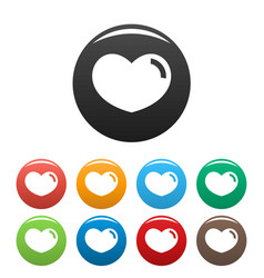 loving heart icons set color vector image