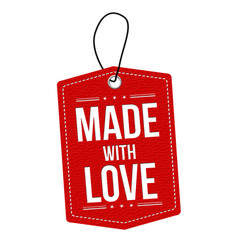 made with love label or price tag vector image