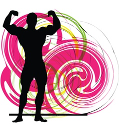 Male body builder vector