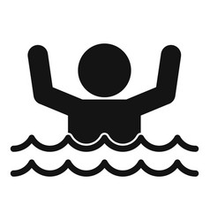 Man flood water icon simple style vector