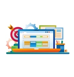 Marketing - flat design website banner vector