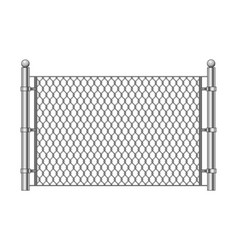 metal chainlink fence vector image