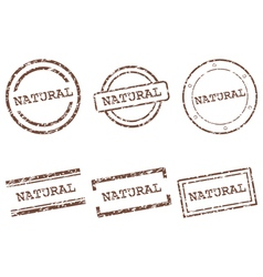 Natural stamps vector image