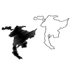 Nidwalden map vector