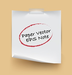 Paper note isolated vector