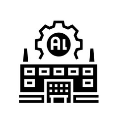 Plant aluminium production line icon vector