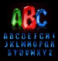 Precious letters sapphire vector