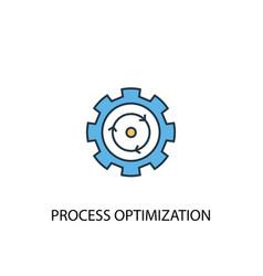 Process optimization concept 2 colored icon vector