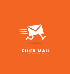 Quick mail logo vector