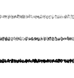 Random dot pattern line separator set from vector