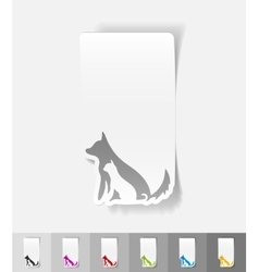 realistic design element dog and cat vector image