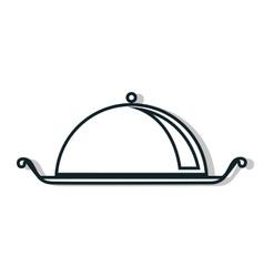 Restaurant food dish line icon vector