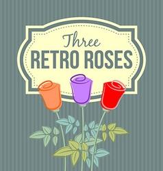 Retro roses vector image