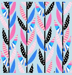 seamless pattern vertical climbing plants vector image
