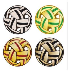 sepak ball takraw set vector image