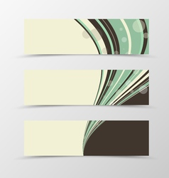 Set of header banner wavy design vector