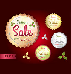 Set of retro promotion discount sale vector