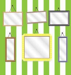 Set picture frames vector image