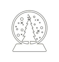 Snowball icon vector
