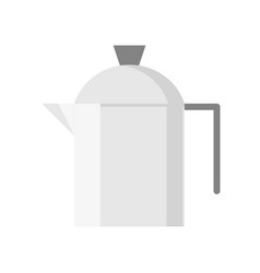 Stainless steel jug flat design icon vector