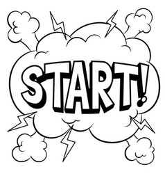 start word comic book coloring vector image