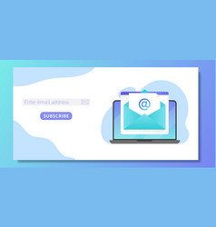subscribe to our newsletter web banner template vector image
