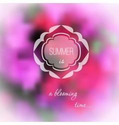 Summer pink flowers blurred background vector image