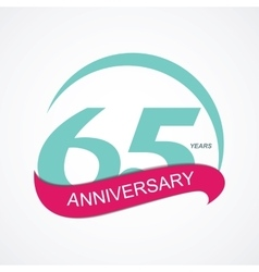 Template Logo 65 Anniversary vector image vector image