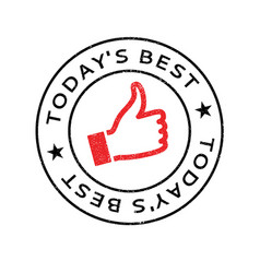 Today s best rubber stamp vector