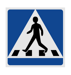 traffic sign pedestrian crossing vector image