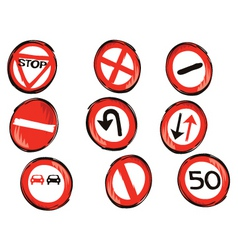 Traffic signs vector