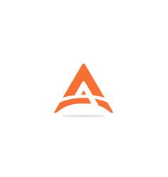 triangle shape a initial company logo vector image