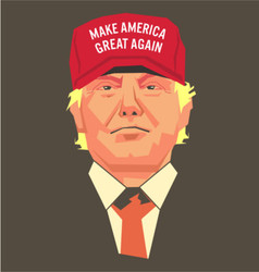 Trump Make America Great Again vector