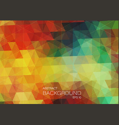 Vitage color background with triangle shapes vector