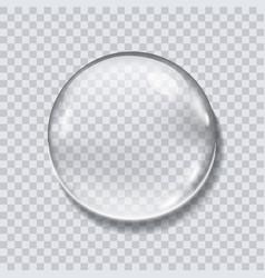 water drop realistic vector image