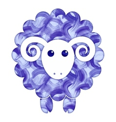 Watercolor cute Sheep vector image