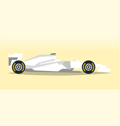 White racing bolid sports car quick transport vector