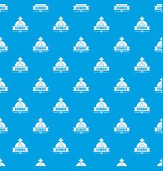 Zombie dark pattern seamless blue vector