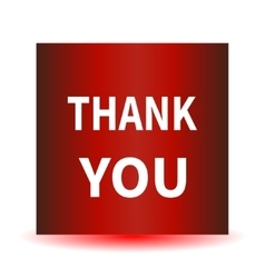 A red icon with a white inscription Thank you vector image